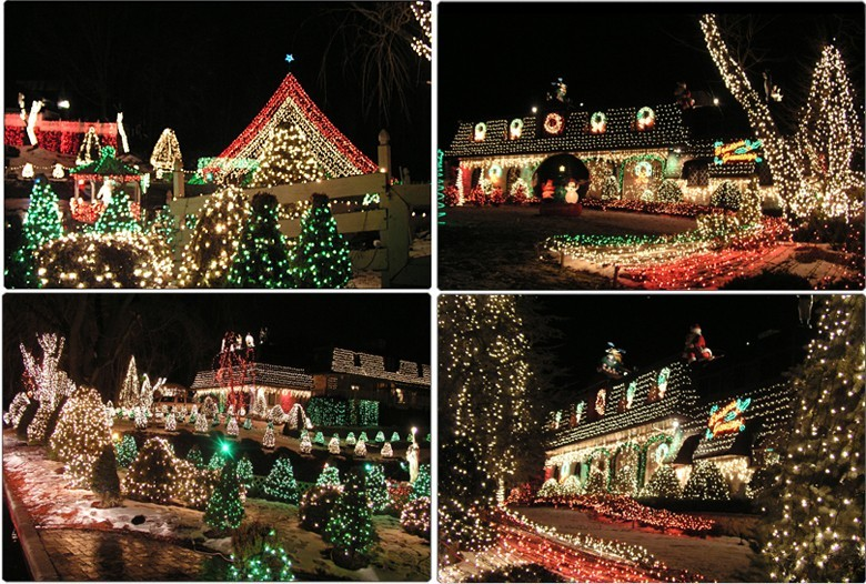 Christmas decorated house in livingston nj house and for Holiday home designs victoria