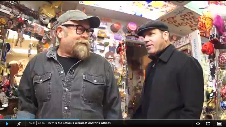Take a video tour of Dr. Leitman's office with Weird NJ publishers Mark Sceurman and Mark Moran, courtesy of videographer Brian Johnston of the Asbury Park Press.