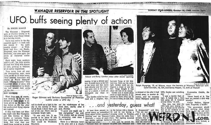 Wanaque UFO Newspaper