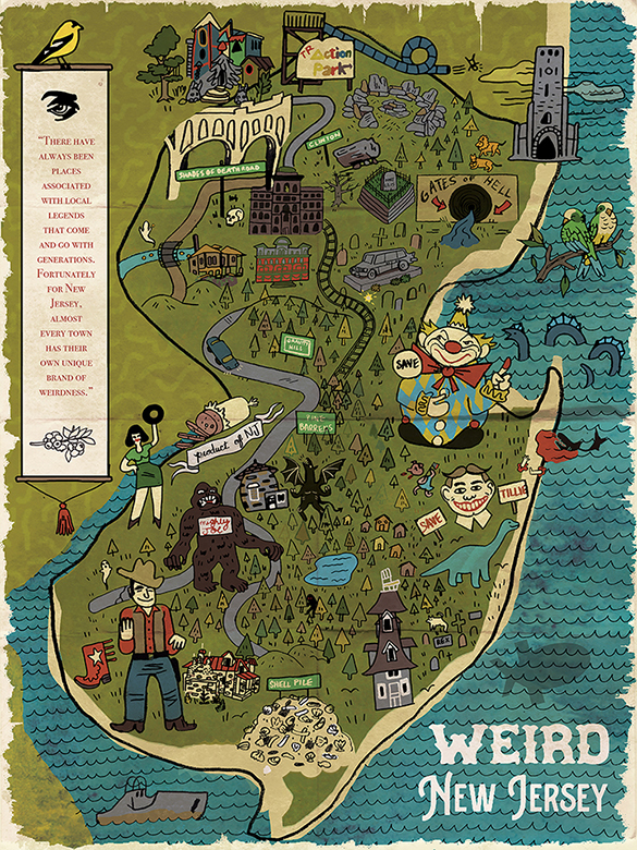 NEW Weird NJ State Map Poster! | Weird NJ